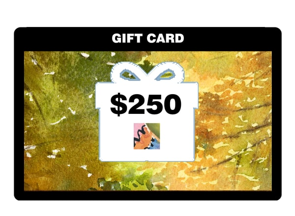 $250 Gift Card | Machalarts Watercolor Studio