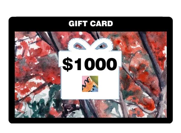 $1,000 Gift Card | Machalarts Watercolor Studio