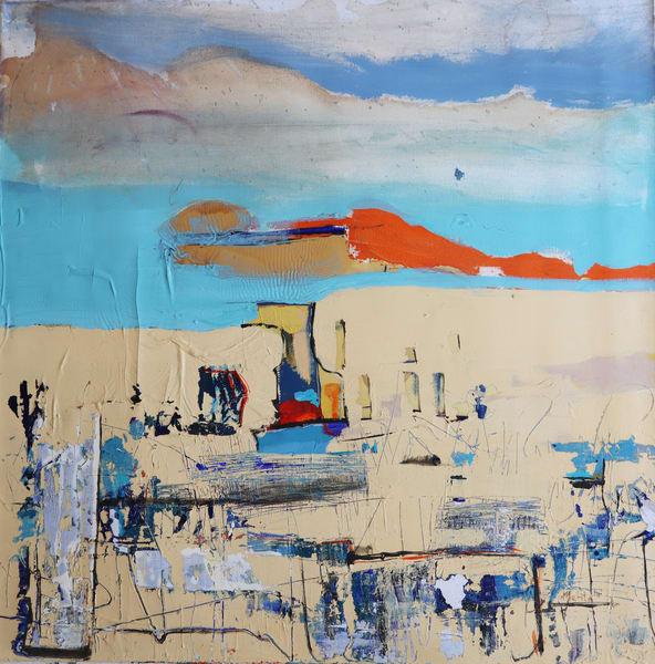 Abstract Landscape In Italy Art   Merita Jaha Fine Art