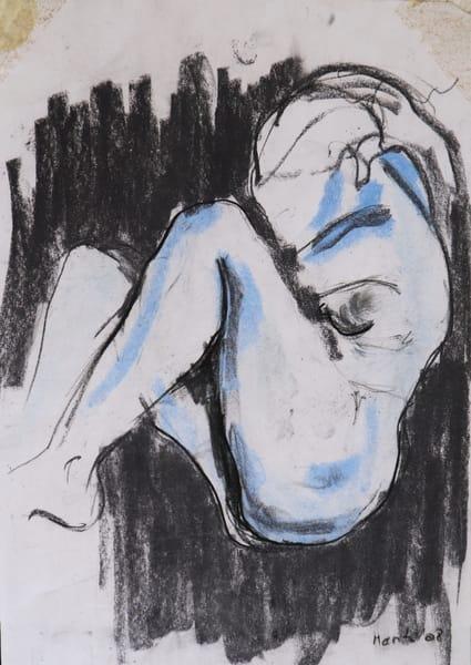 Blue Fetus Art   Merita Jaha Fine Art