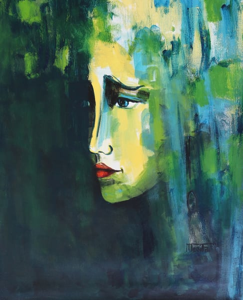 Portrait From The Dark Art   Merita Jaha Fine Art