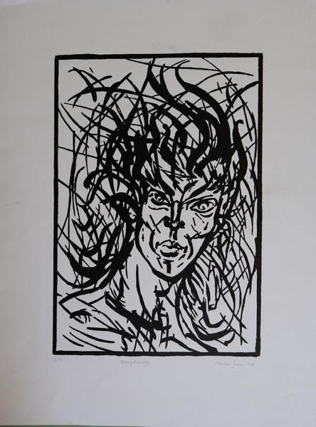 Portrait Graphic Print Art   Merita Jaha Fine Art