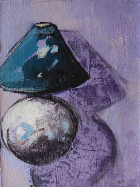 Purple Lamp Art | Merita Jaha Fine Art
