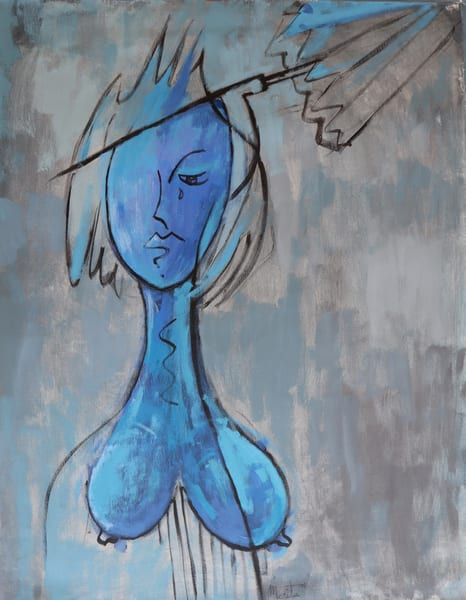 Blue Portraitblu Art | Merita Jaha Fine Art