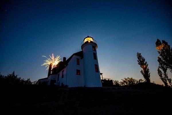 Fireworks, Pointe Betsie, Lake Michigan, Summer, Nightsky