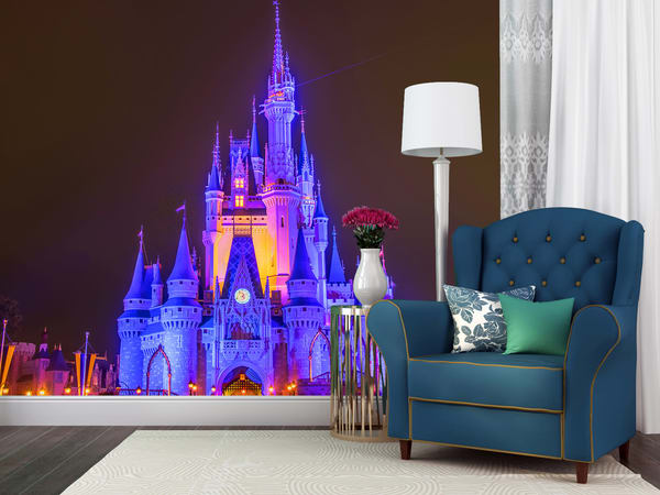 Cinderella's Castle At Night 1   Disney Castle Wall Murals Photography Art | William Drew Photography