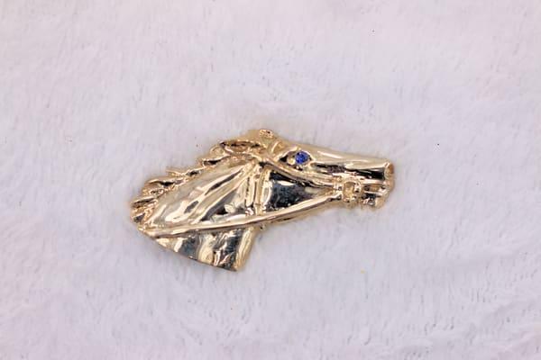 Sterling Silver Race Horse Head Stick Pin Brooch Jewelry