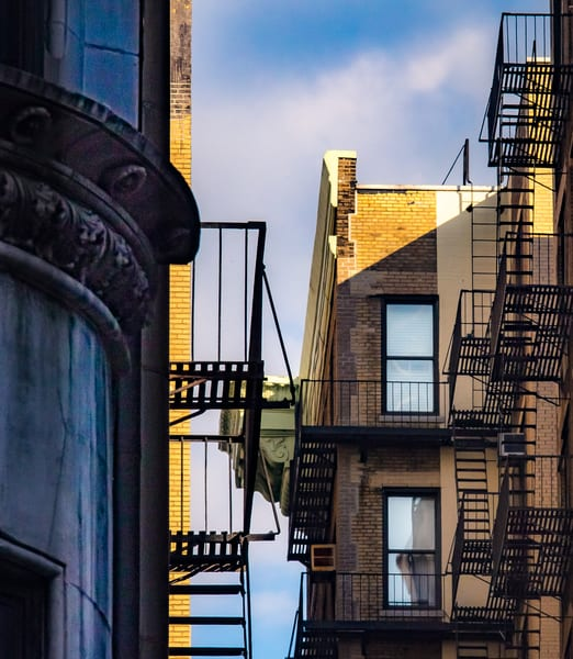 Fire Escapes Between The Buildings, Nyc Photography Art | Ben Asen Photography