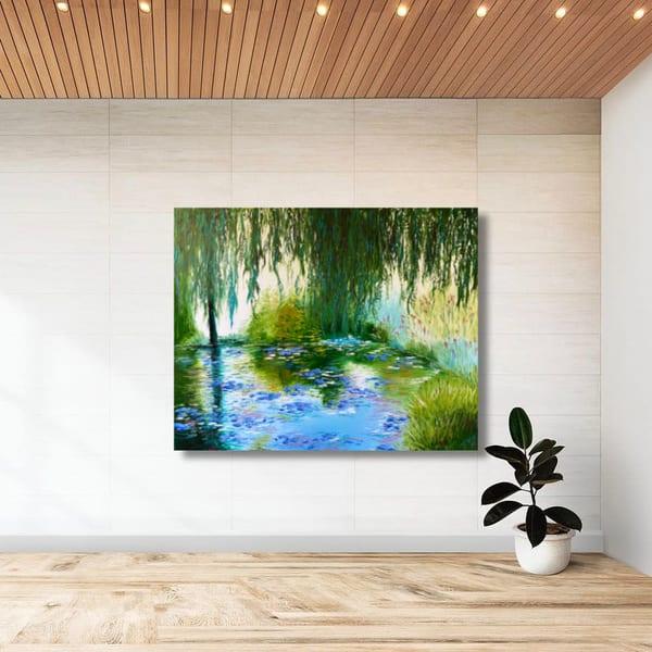 Memory Of Monet   Original Oil Painting Art   Tessa Nicole Art