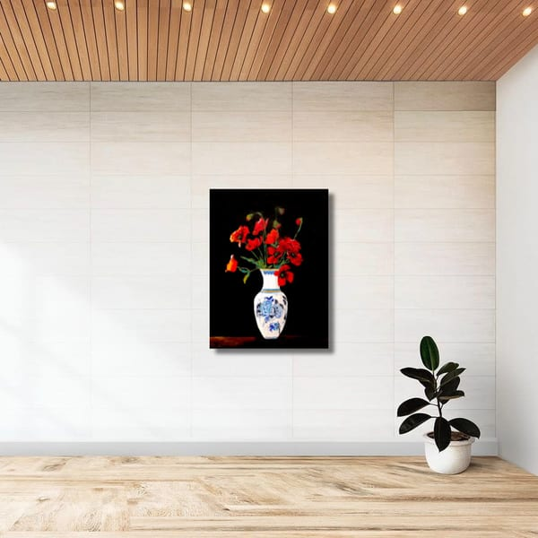Poised Poppies   Original Oil Painting Art   Tessa Nicole Art