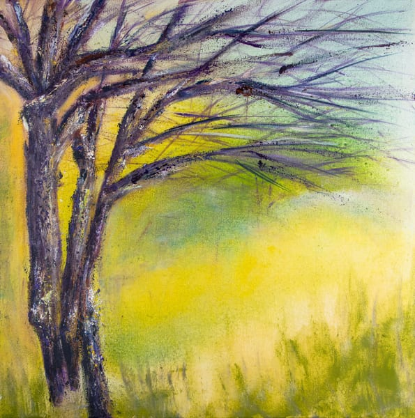 purple trees oil painting original