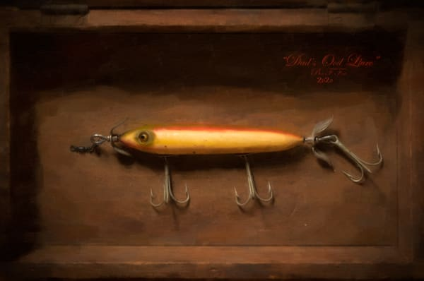 Dad s Old Fishing Lure, Open Edition, Ben Fink, Art Print,