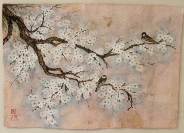Two Birds On Plum Art | donnadacuti