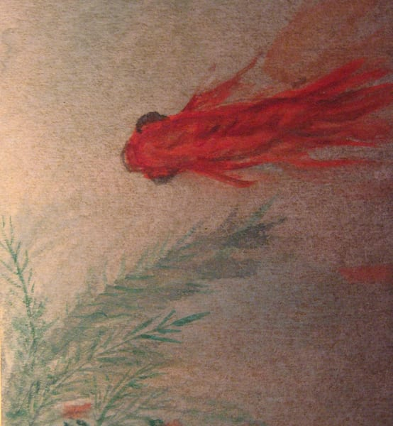 Goldfish On Gold Art | donnadacuti