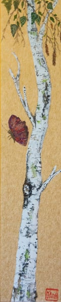 Birch And Butterfly Art | donnadacuti