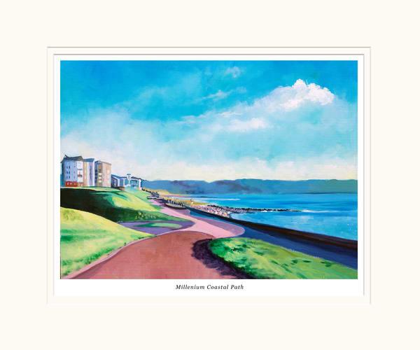 Millennium Coast Small Art Print