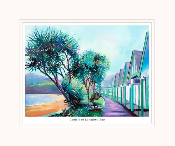 Langland Bay Small Art print
