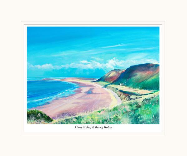 Rhossili Bay Small Art print