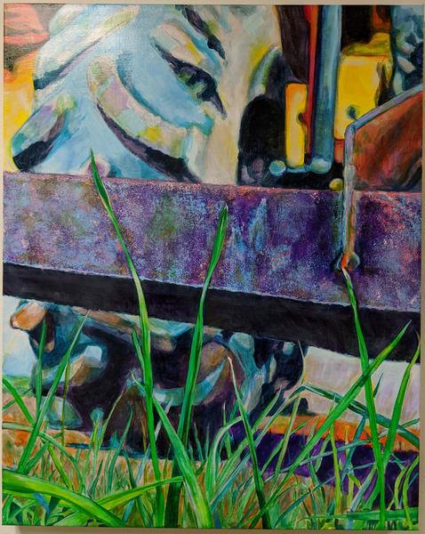 Renee Crouser - original artwork - farm - rustic - Broder Farm Series