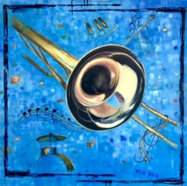Trish Bilich - original artwork - music art - trombone art - Buttah
