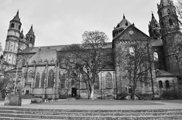 Worms Cathedral B&W Art   Renee Bitinas Fine Art