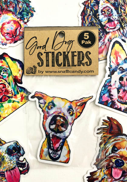 5-Pak Good Dog Stickers