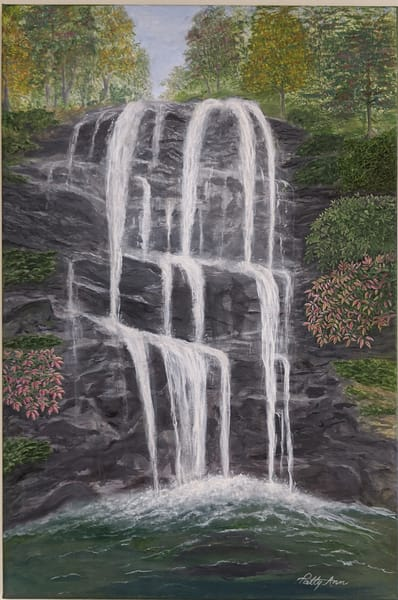 Patricia Stanley Horn - original artwork - waterfalls - landscape - nature
