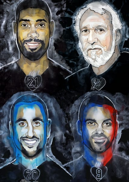 Spurs Legends Art | William K. Stidham - heART Art