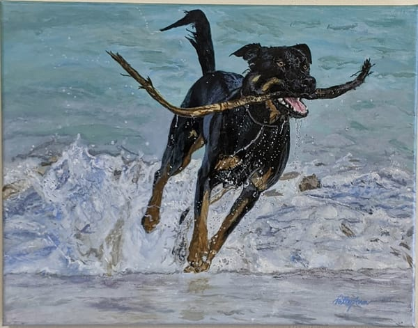 Patricia Stanley Horn - original artwork - animals - dogs
