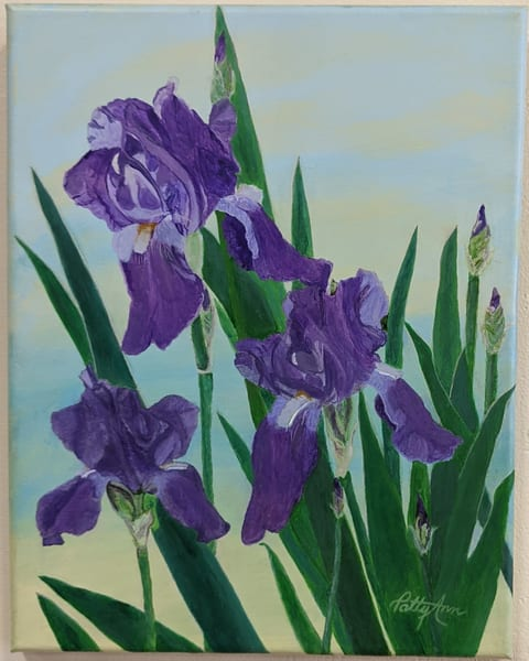 Patricia Stanley Horn - original artwork - flowers - irises -nature