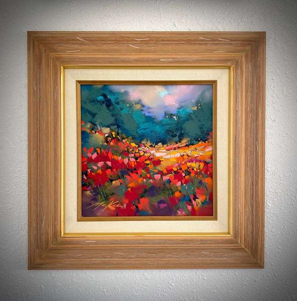 Field Study In Crimson Art | Michael Mckee Gallery Inc.