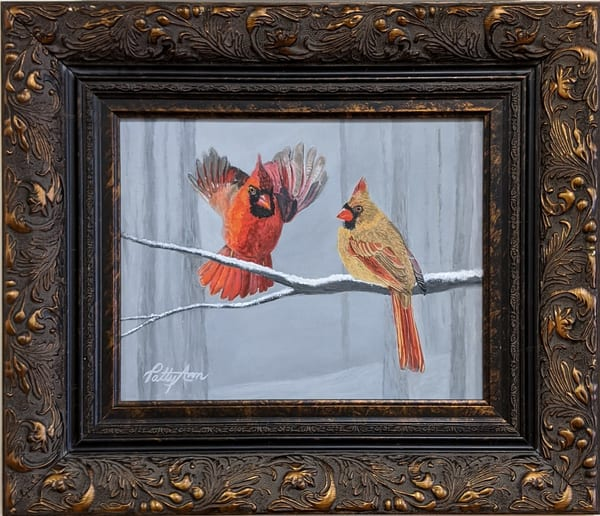 Patricia Stanley Horn - original artwork - nature - birds - cardinals