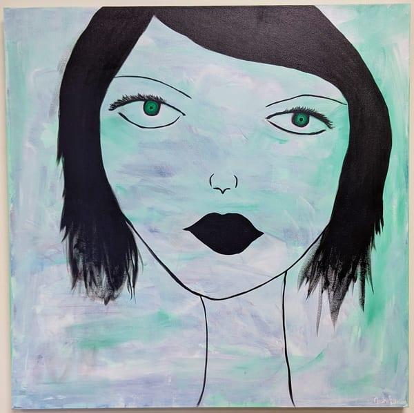 Cresha Lu Fulkerson - original artwork - lady's face - Chloe