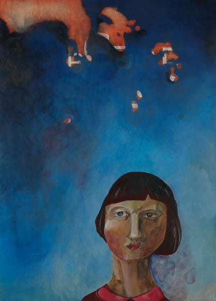 Feel Blue. The Contemplative Self Series. Art | Mina Vancardo