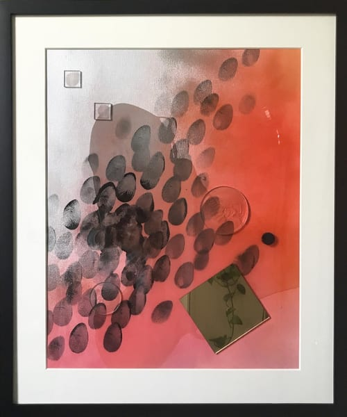 Smoke And Mirrors 2 (Framed) Art | Makiko Harris Art