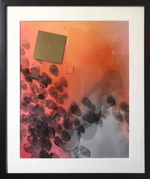 Smoke And Mirrors 1 (Framed) Art | Makiko Harris Art