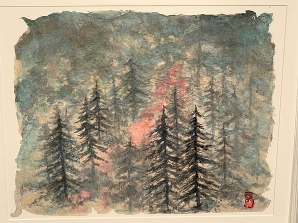 Foggy Trees In Color Art   donnadacuti