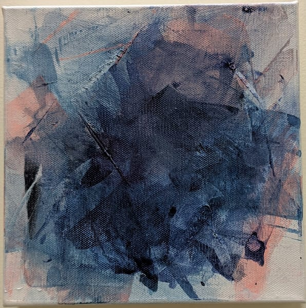 Cresha Lu Fulkerson - original artwork - abstract - blues and pinks - Summer Dreams
