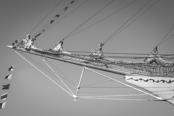 Bowsprit and Flags - Russian Ship Mir
