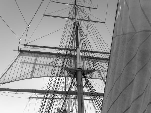 Main Lower Topsail and Staysail - Star of India