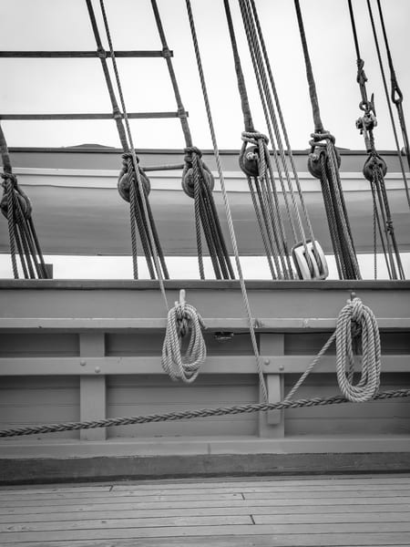 Starboard Rail, Standing and Running Rigging, Whaleboat
