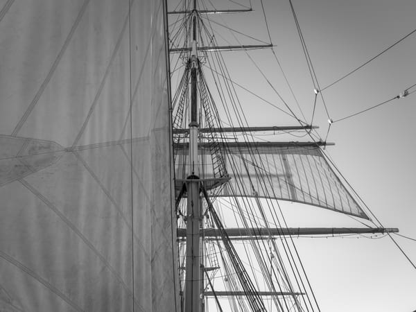 Staysail and Main Lower Topsail | Star of India (1863)