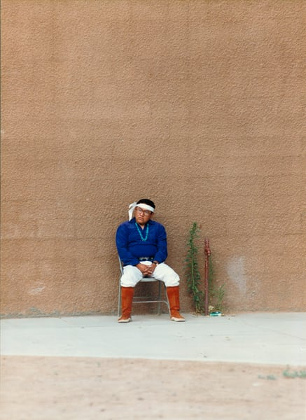 Native Amerivan Man in Blue