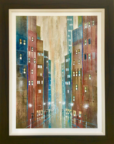 Walking The Dog Original Sold Art | John Blowers Art