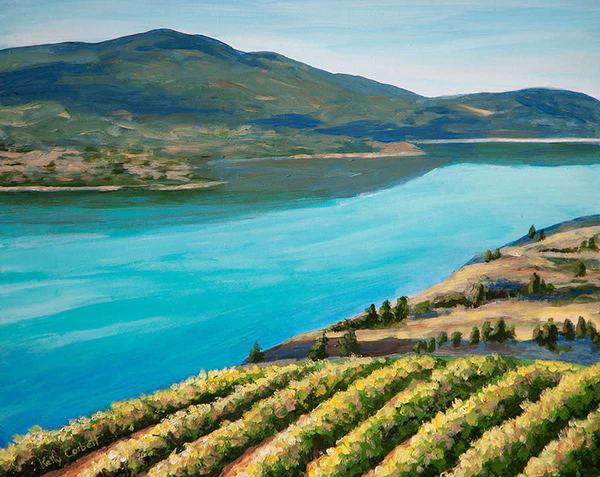 Vineyard on Kalamalka Lake
