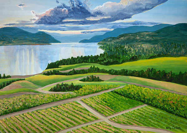 Okanagan Vineyard painting