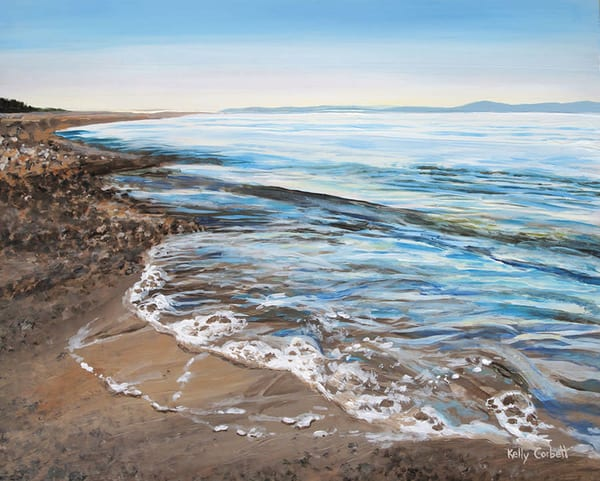 Rathtrevor beach painting in Parksville, BC.