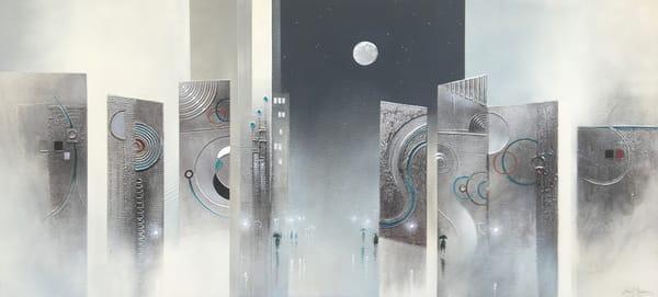 City Moon 2 Original Sold Art | John Blowers Art