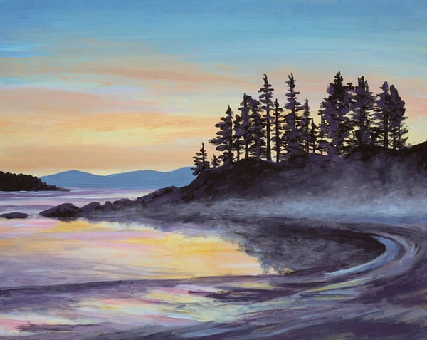Painting of a beach in Tofino, BC.