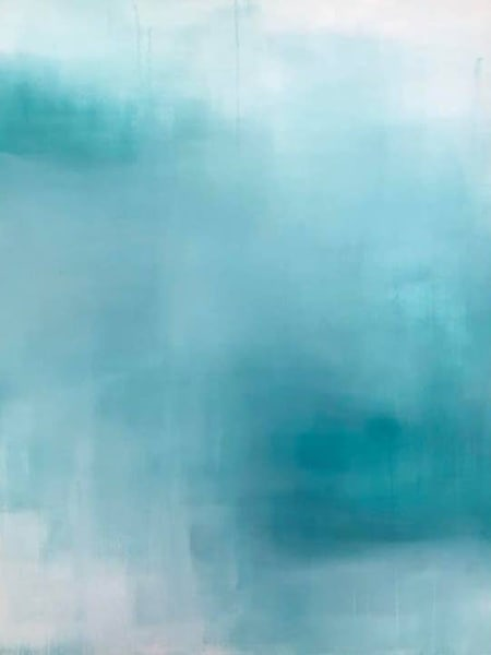 Cresha Lu Fulkerson - original artwork - abstract - light and dark turquoise and white - Serenity